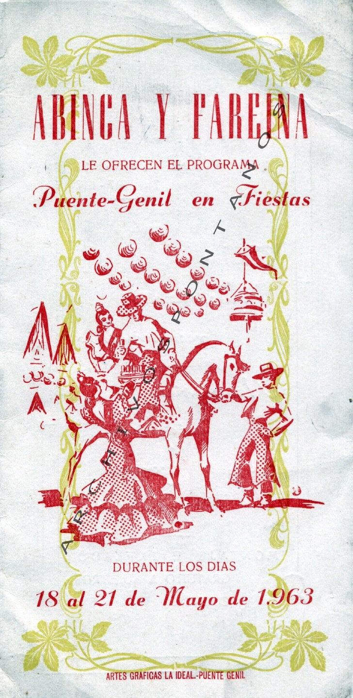 PROGRAMA FERIA DE MAYO 1963