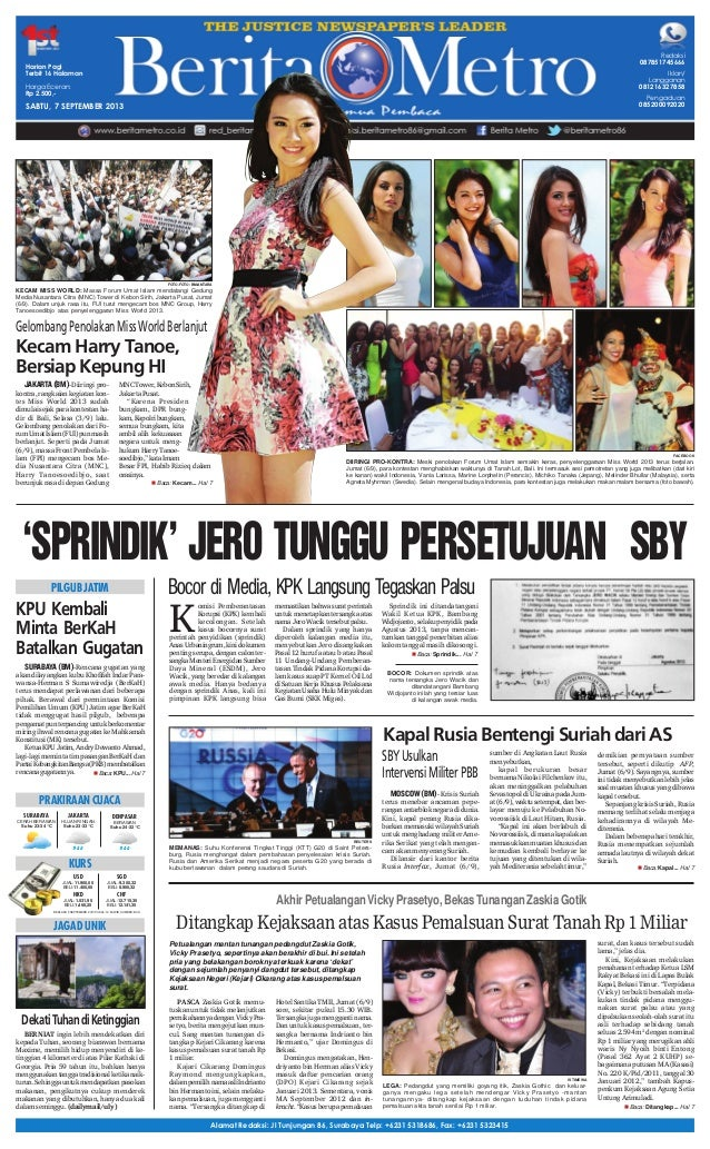 Berita Metro 7 September 2013
