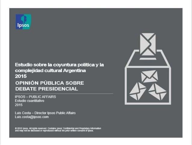 El 78% de los argentinos considera importante que haya un debate presidencial