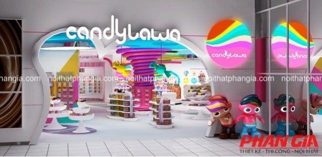 Thiết kế khu vui chơi kẹo ngọt cho trẻ em