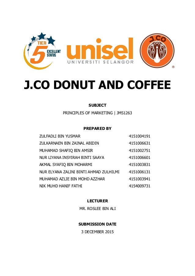 j co donuts marketing Contemporain foods, inc (jco donuts and coffee) june 2012 – march 2013 (10 months) • take responsibility for specific campaigns as agreed with the vp for marketing ie venue specific campaigns and marketing and promotional events.
