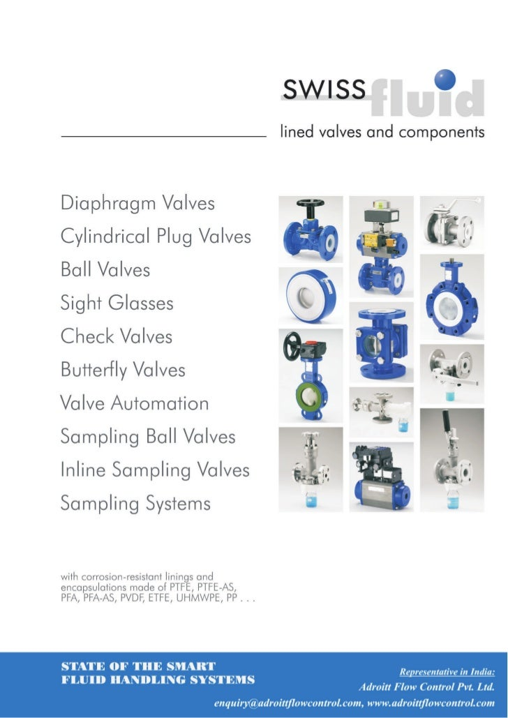Swiss Fluid PTFE & Elastomer Lined Butterfly Valve, Plug Valve, Diaphragm Valve & Lined Components