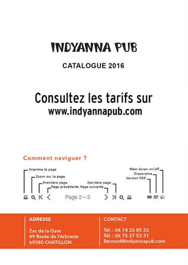 Indyanna pub Catalogue