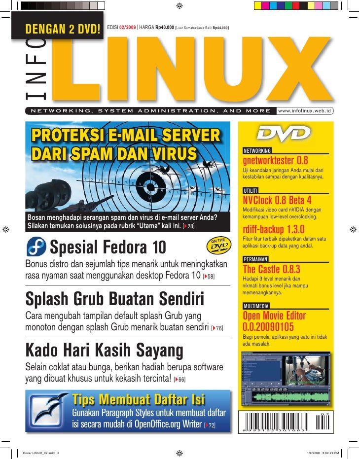 DENGAN 2 DVD!             EDISI 02/2009 | HARGA Rp40.000 [Luar Sumatra-Jawa-Bali: Rp44.000]      N E T W O R K I N G , S Y...
