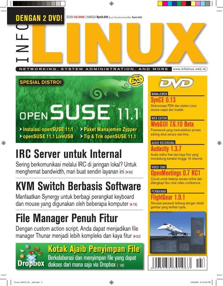 DENGAN 2 DVD!            EDISI 03/2009 | HARGA Rp40.000 [Luar Sumatra-Jawa-Bali: Rp44.000]      N E T W O R K I N G , S Y ...