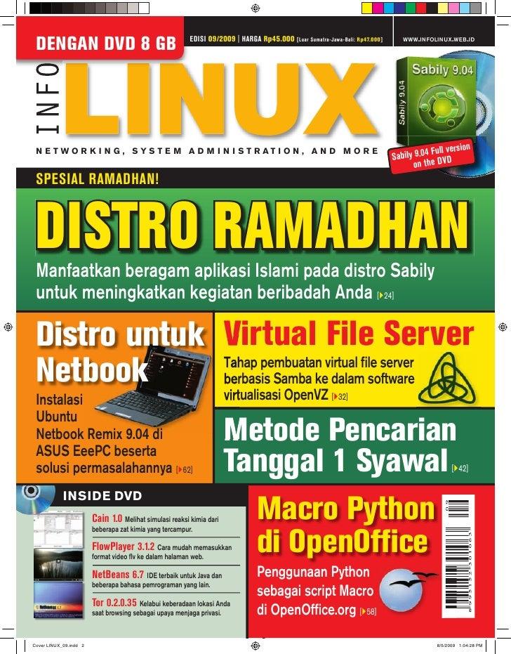 EDISI 09/2009   HARGA Rp45.000                                           WWW.INFOLINUX.WEB.ID DENGAN DVD 8 GB             ...