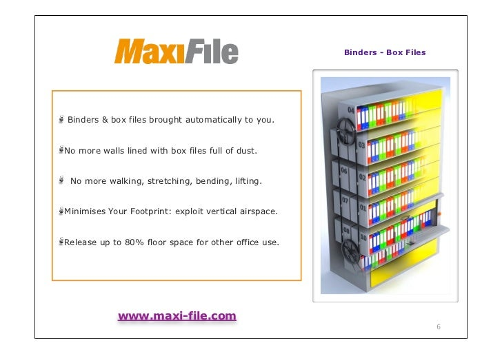 Binders - Box FilesBinders & box files brought automatically to you.No more walls lined with box files full of dust. No mo...