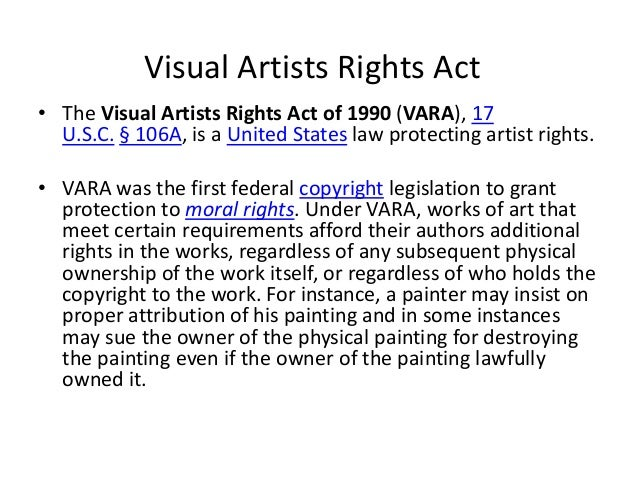 vara the visual artists rights act