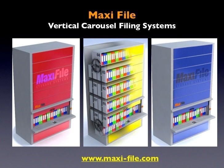 Binders storage  bespoke carousel  vertical filing system maxi file