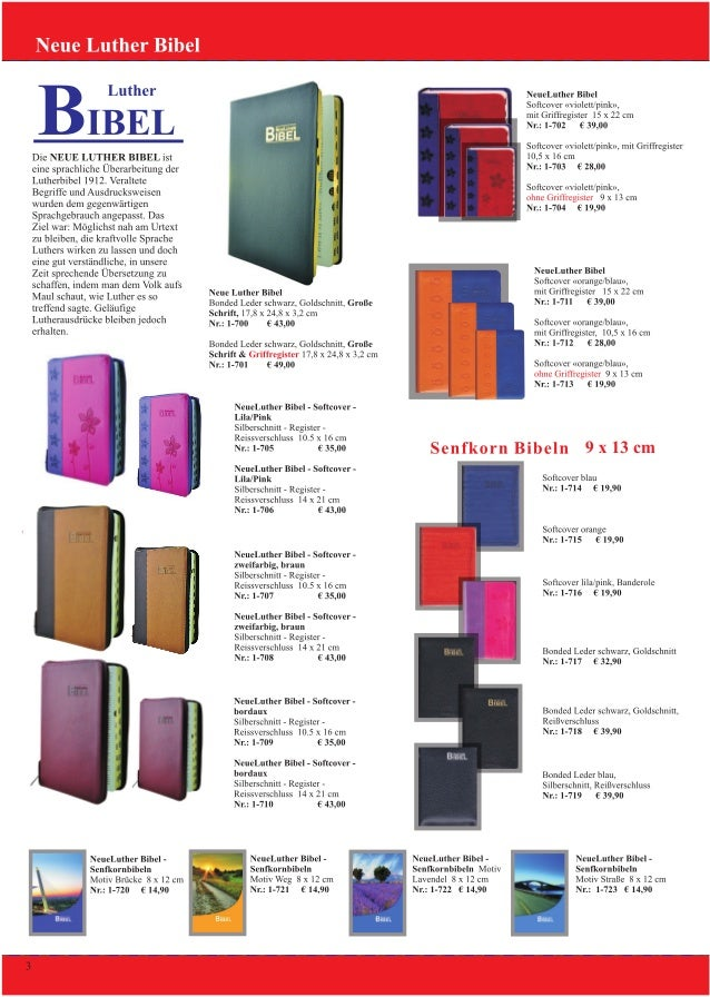 Binefeld Verlag Bibel Angebot 2013 & 2014