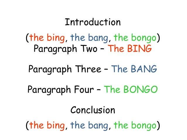 Persuasive essay on big bang