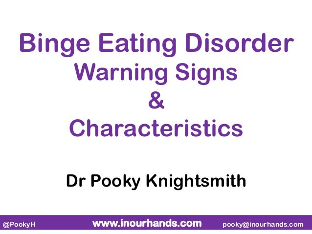 the signs symptoms and causes of binge eating disorder The main sign of binge eating disorder is frequent bingeing where the person eats an unusually large amount of food at one time this quantity of food is far more.