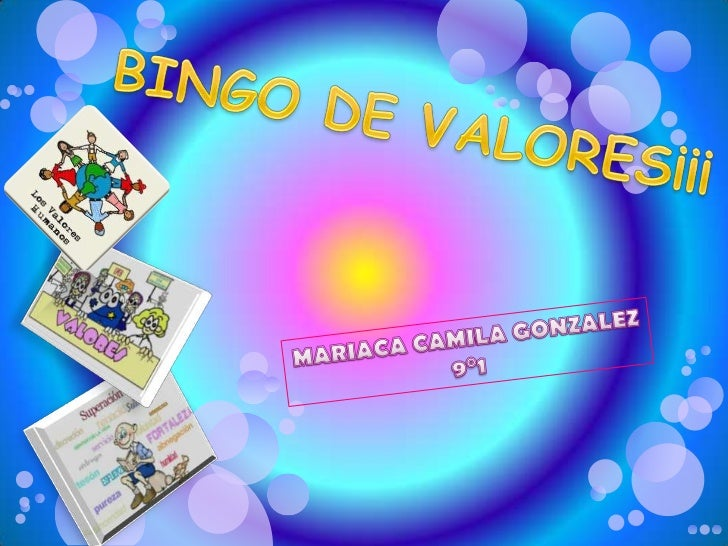 Bingo DE VALORES¡♥