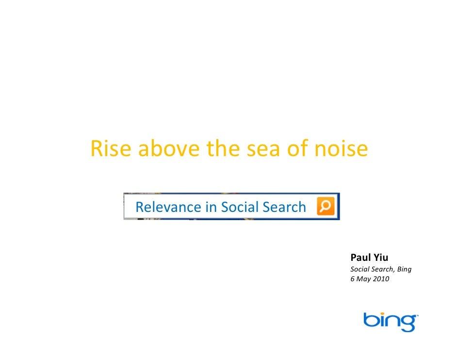 Bing Social Search - Rise