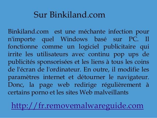 Sur Binkiland.com Binkiland.com est une méchante infection pour n'importe quel Windows basé sur PC. Il fonctionne comme un...