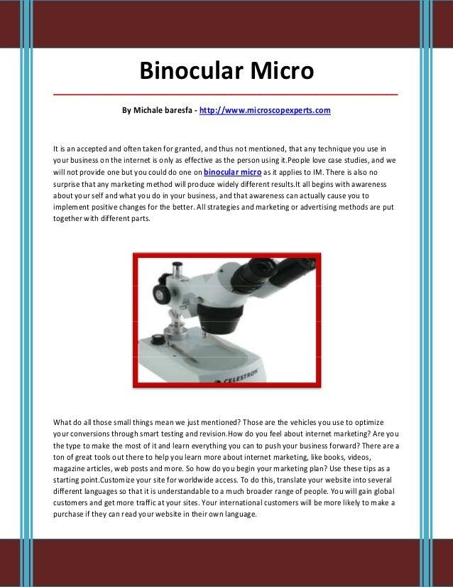 Binocular Micro_____________________________________________________________________________________                     B...