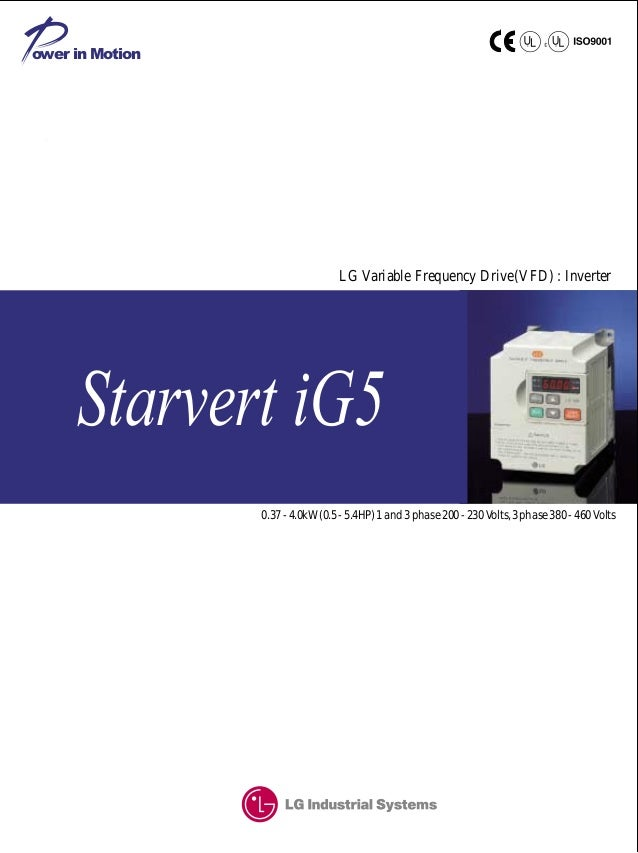 Biến tần LS iG5 - Tài liệu biến tần LS iG5 (English manual, P.1)