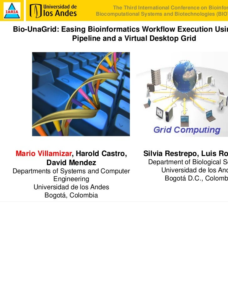 Bio-UnaGrid: Easing bioinformatics workflow execution