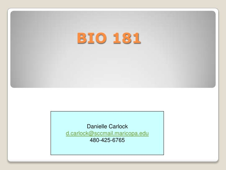 Bio181 spring11