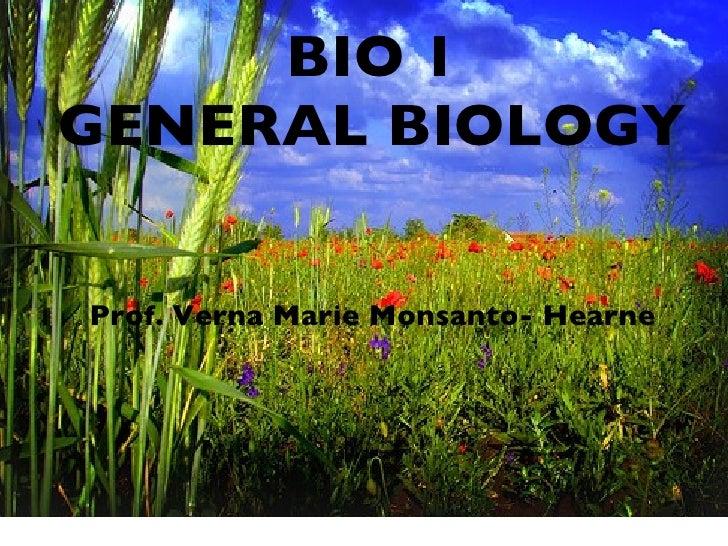 Bio 1 lecture 1