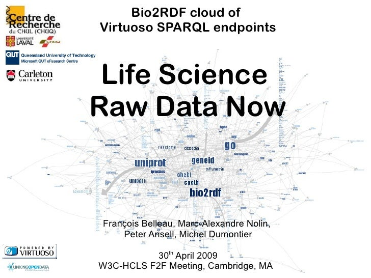 Bio2RDF cloud of Virtuoso SPARQL endpoints    Life Science Raw Data Now   François Belleau, Marc-Alexandre Nolin,     Pete...