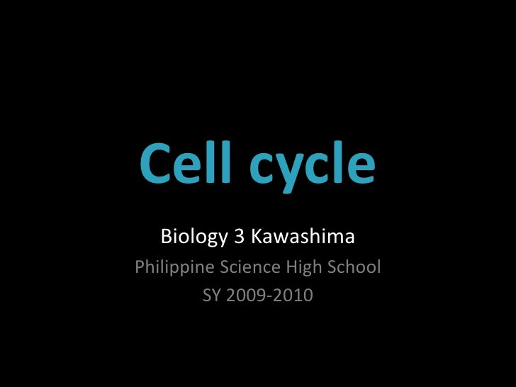 BIO3Lec1 Cell Cycle