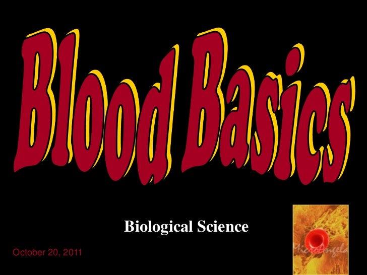 Biological ScienceOctober 20, 2011