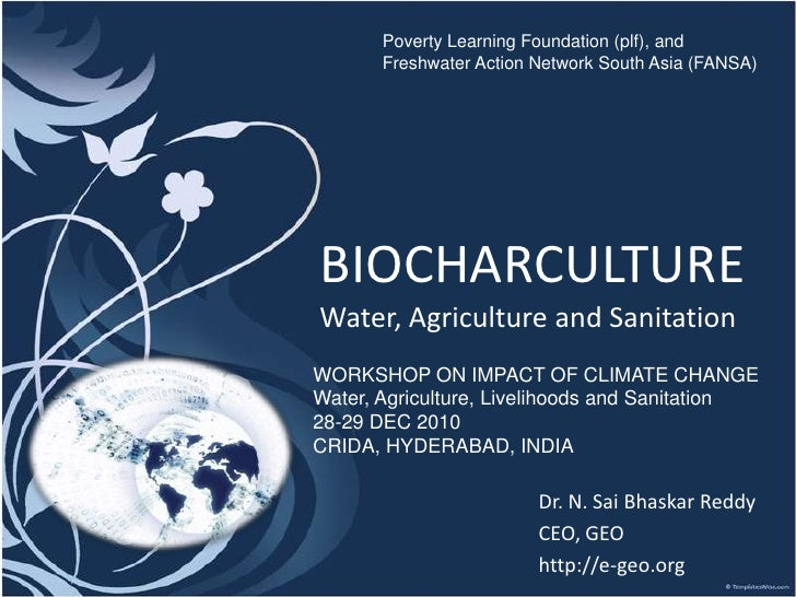 Biocharculture water and sanitation