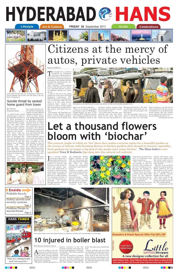 Biochar for gardens - The Hans India1