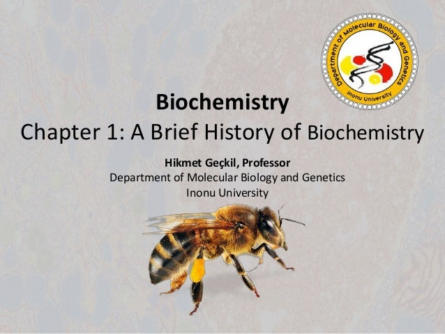 Biochemistry history subjects in college