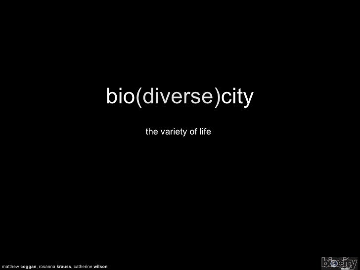 Bio(diverse)city – the variety of life | Biocity Studio