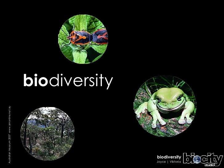 bio diversity Australian Museum 2007  www.amonline.net.au