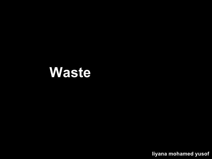 Waste Recycling liyana mohamed yusof