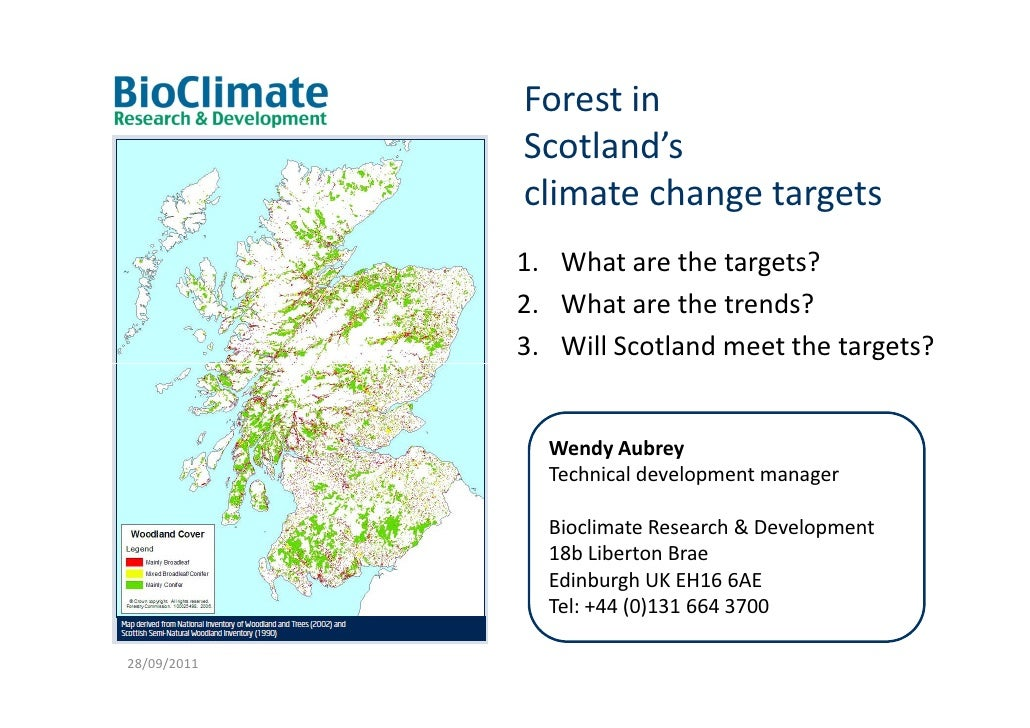 Forest in             Scotland's             climate change targets             1. What are the targets?             2. Wh...