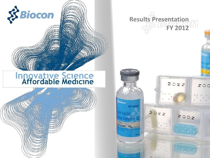 Biocon Results Presentation April 2012