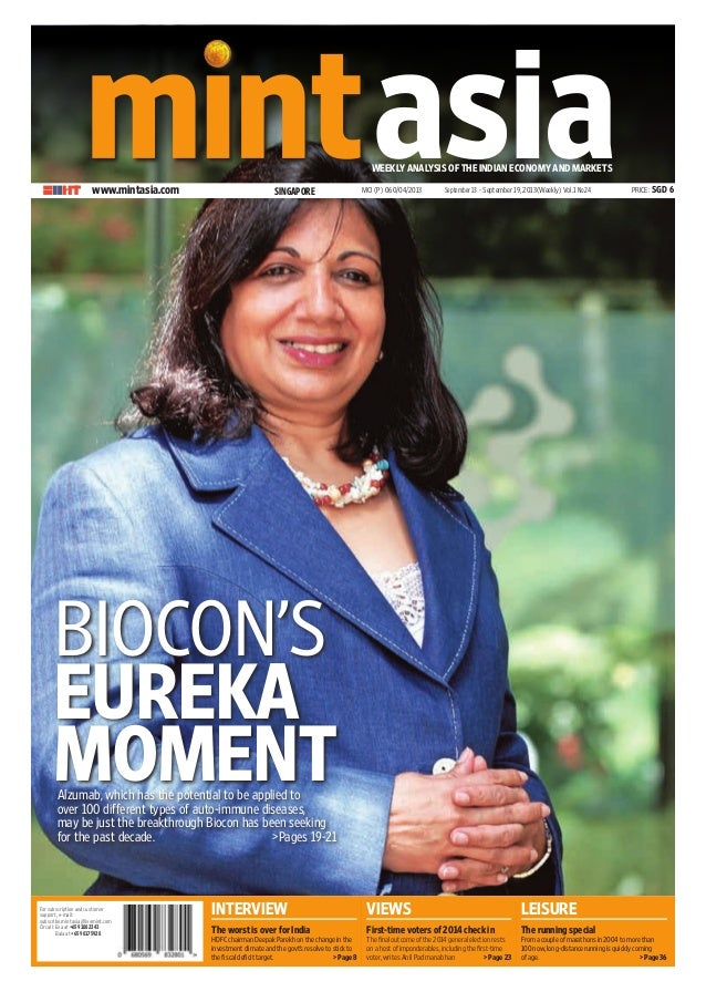 For subscription and customer support, email: subscribe.mintasia@livemint.com Or call: Eva at +65 91082343 Bala at +65 98...