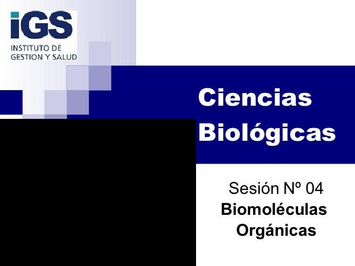 Biocosmiatria 2008   SesióN 04   Biomoleculas Organicas