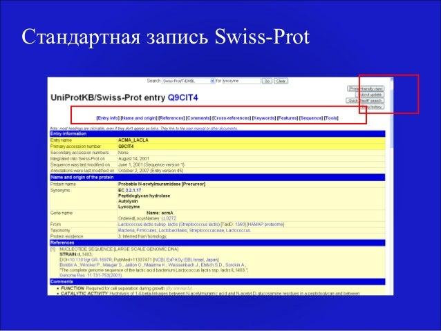 Стандартная запись Swiss-Prot