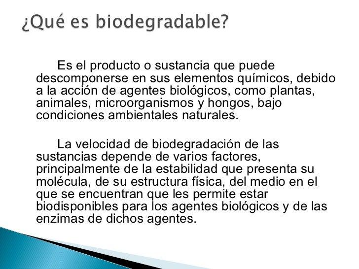Resultado de imagen para que es biodegradabilidad
