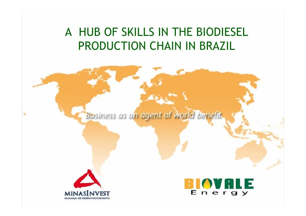 A HUB OF SKILLS IN THE BIODIESEL   PRODUCTION CHAIN IN BRAZIL