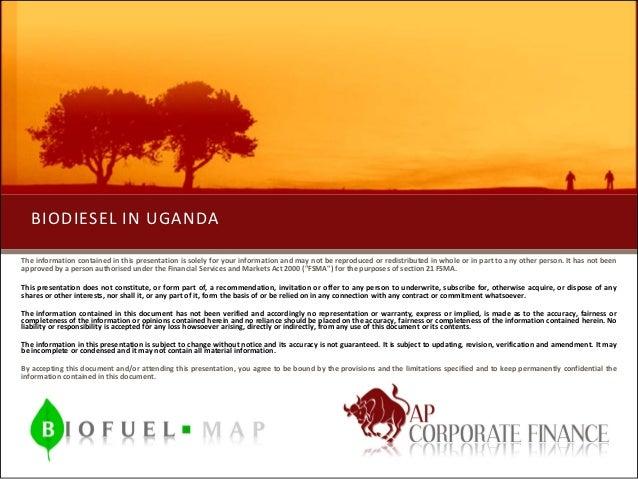 Bio Diesel in Uganda by AP Corporate Finance