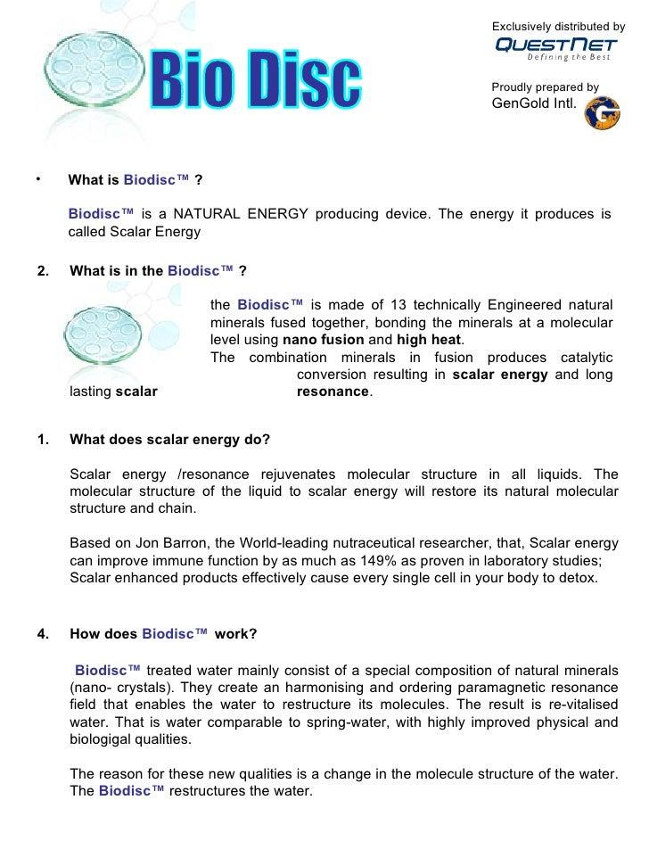 Biodisc Booklet