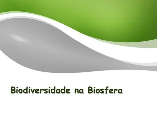 Biodiversidade na Biosfera