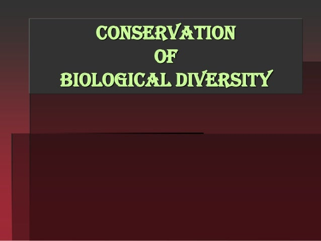 convesation of Biodiversity