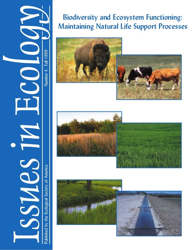 Published by the Ecological Society of America  Number 4, Fall 1999  Issues in Ecology Biodiversity and Ecosystem Function...