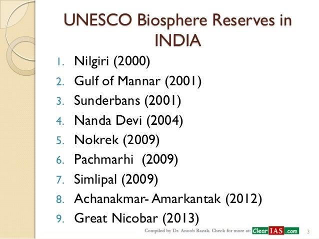 conservation of biosphere reserves
