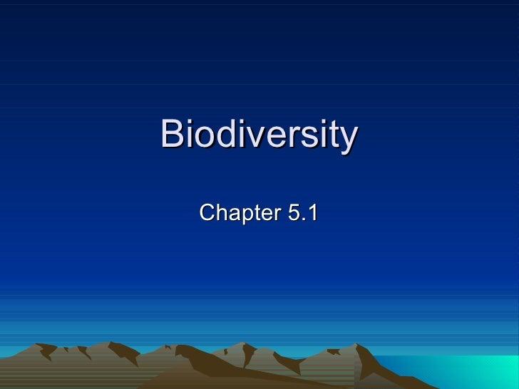 Biodiversity Chapter 5.1