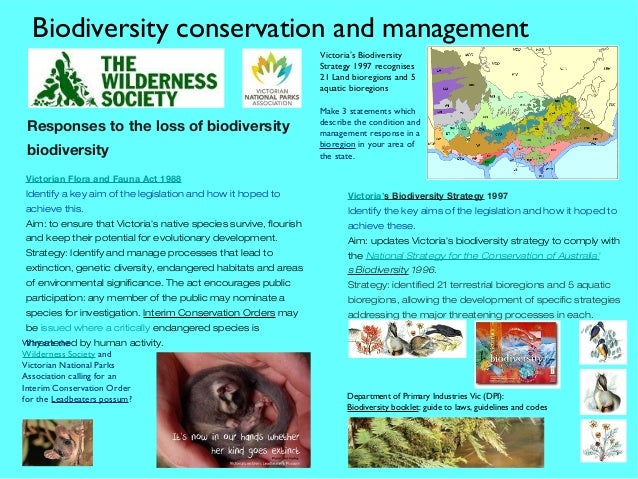 Biodiversity conservation strategy victoria