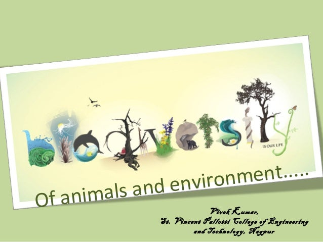 Of animals and environment..... Vivek Kumar, St. Vincent Pallotti College of Engineering and Technology, Nagpur