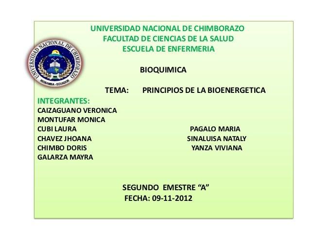 UNIVERSIDAD NACIONAL DE CHIMBORAZO                  FACULTAD DE CIENCIAS DE LA SALUD                      ESCUELA DE ENFER...